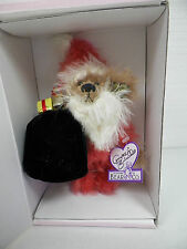 "Annette Funicello Bear Co ""Bear Claus"" Mohair Bear 8"" With Box & Coa"