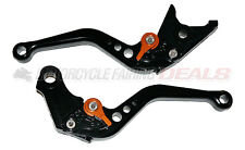 Honda CBR 600 F4i 2004 2005 2006 2007 Adjustable Shorty Brake Clutch Lever Black