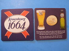 Beer Drink Coaster ~ KRONENBOURG 1664 ~ Gold Medal Winner at 41st Brussels Event
