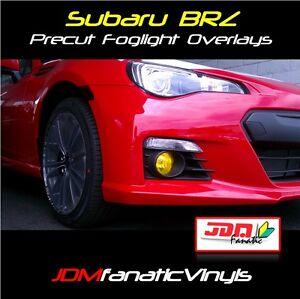 13-18 Subie BRZ Fog light Yellow Overlays Tint JDM Rally Precut BR-Z gt86 Wrap