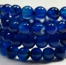 AAA 6mm blue agate gemstone round wide round loose beads ##ZY066