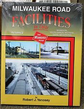MORNING SUN BOOKS - MILWAUKEE ROAD FACILITIES Volume 2 In Color - HC 128 Pages