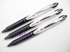 3 x Pilot V-BALL RT Retractable Roller Ball Pen 0.5mm Extra Fine, BLACK