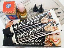 2x Black HENNA Mehandi Tattoo, Book & Oil, DESIGN KIT