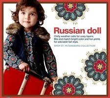 NWOT Baby Gap St Petersburg Faux Fur Vest Russian Doll Dress Set Girl Size 5