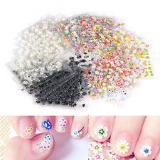 50 Pcs Sheets 3D Design Nail Art Manicure Stickers Tips Decal Flower Beautiful