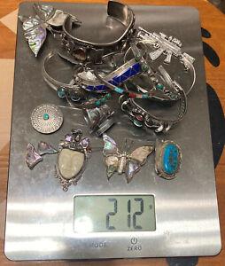 Vintage Native American Sterling Silver 925 Jewelry Scrap 212 G Bracelets Other