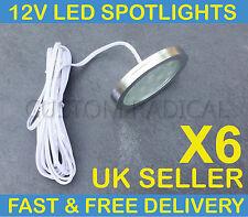 X6 VW T4 T5 TRANSPORTER CAMPER VAN BOAT 12V INTERIOR LED SPOT LIGHTS SLIM FLUSH