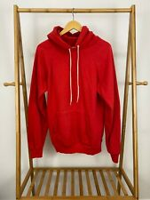 VTG 80s Hanes Blank Red Hoodie Pullover Sweatshirt Size L 42-44 USA RARE