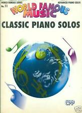 WORLD FAMOUS MUSIC-CLASSIC PIANO SOLOS #11.MUSIC BOOK RARE OUT OF PRINT NEW SALE
