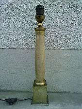 lampe colonne gainé cuir style empire leather lamp design
