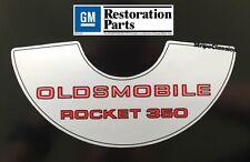 Oldsmobile 1969 1970 1971 1972 350 2V Rocket Air Cleaner Decal New 69 70 71 72
