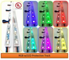 Multi Color Storefront LED Lights Kit w/Protective Track Indoor & Outdoor (25ft)