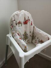 IKEA Antilop KLAMMIG High Chair Cushion Cover - Christmas