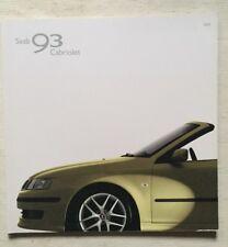Depliant Saab 93 Cabriolet in italiano Giugno 2004