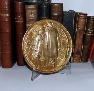 Médaille BRONZE GENERAL DE GAULLE Appel du 18 juin 1940 doré à l'or pur