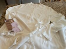 pigiama donna invernale bianco panna mis. 48