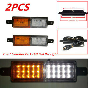 2PCS ABS Front Indicator Park LED Bull Bar Lights Lamp Car Truck Yacht Trailer