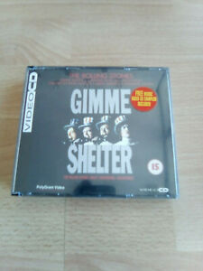 """GIMME SHELTER """"THE ROLLING STONE"""" 3 VIDEO CD POLYGRAM,PERFETTO"""