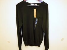 NEW - MEN'S DKNY V-NECK L/S SWEATER   SMALL & MEDIUM - NAVY OR BLACK      $20.00