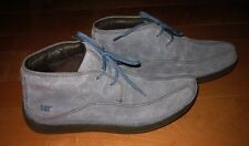 CAT Caterpillar Wms Blue Suede Ankle Boots US 8 W