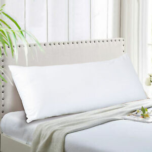 EVOLIVE Ultra Soft Microfiber Body Pillow, Long Side Sleeping Pillow(off white)