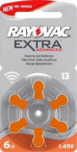 60x Hörgerätebatterie Typ 13 / Orange Rayovac Extra Advanced - MHD_2024 #R13