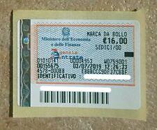 MARCA DA BOLLO DA 16,00 € - ANNO: LUGLIO 2019 - NUOVA - COLLEZIONISMO