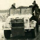 Foto engl. Beute Kfz Jeep Bedford MWD WH Sold. im Einsatz in Russland Wintertarn