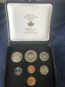 1973 Canada 1973 Specimen Double Penny Mint Coin Set With Small Bust 25 Cent