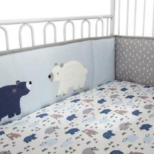 Lambs & Ivy Signature Montana 4-Piece Infant Baby Nursery Polar Bear Crib Bumper