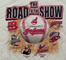 Cleveland Indians ROAD TO THE SHOW Tee T-Shirt Minor Major League Adult Size XL
