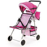 Baby Dolls 4 Wheel Wheeler Buggy Stroller Jogger Pram Pushchair Girls Toy