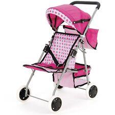 Muñecas del bebé Cochecito Jogger 4 ruedas Wheeler Buggy Cochecito Sillita para niñas juguete