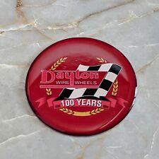 Red Dayton Anniversary Wire Wheel Chips Emblems Decals Set Of 4 Size 275in
