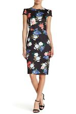 NEW    	BETSEY JOHNSON Floral Printed Midi Dress Size 8