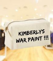Personalised Make-up Bag Funny War Paint Design Gift Idea/Present