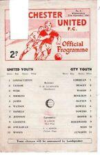Manchester City Football Reserve Fixture Programmes (1960s)