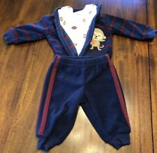New Carters Newborn 3-Piece Football Jacket With Matching Pants Set