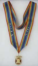Vintage MILITARY ORDER of the WORLD WARS MEDAL AWARD Dept. COMMANDER NECK RIBBON