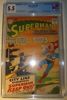 Superman #130 CGC 5.5, FN-,1959, Supergirl & Krypto app. Curt Swan and Stan Kaye
