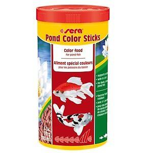 Sera Pond Color Sticks 170g 1000ml Colour Enhancing Fish Food Pellets EXP05/2020