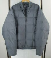 VTG POLO RALPH LAUREN Size XL Mens Down Filled Grid Quilted Jacket Coat Gray