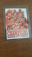 Kansas City Chiefs 2019 Super Bowl Champs custom Football Card Patrick Mahomes