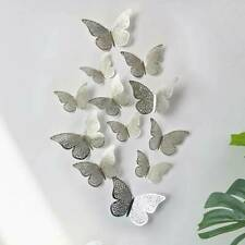 12Pcs 3D Butterfly Wall Stickers Art Decals Home All Room Decoration Decor Kids