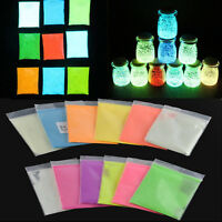 10g Glow in the Dark Luminous Powder Fluorescent Bright Pigment Graffiti DIY