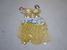 Vintage Professional Sequin & Glass Beaded belly-dance costume Small Handmade .