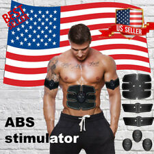 6 Pcs Muscle Toner Electric EMS Machine Wireless Toning Belt Abs Fat Burner Kit