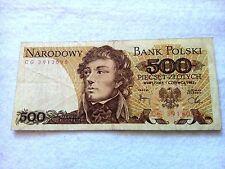 500 Zloty Poland 1982 banknote