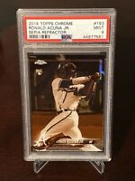 2018 Topps Chrome Ronald Acuna Jr. Rookie Sepia Refractor PSA 9 Braves SP RC